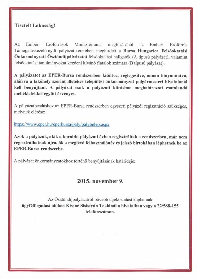 Bursa Hungarica 2015