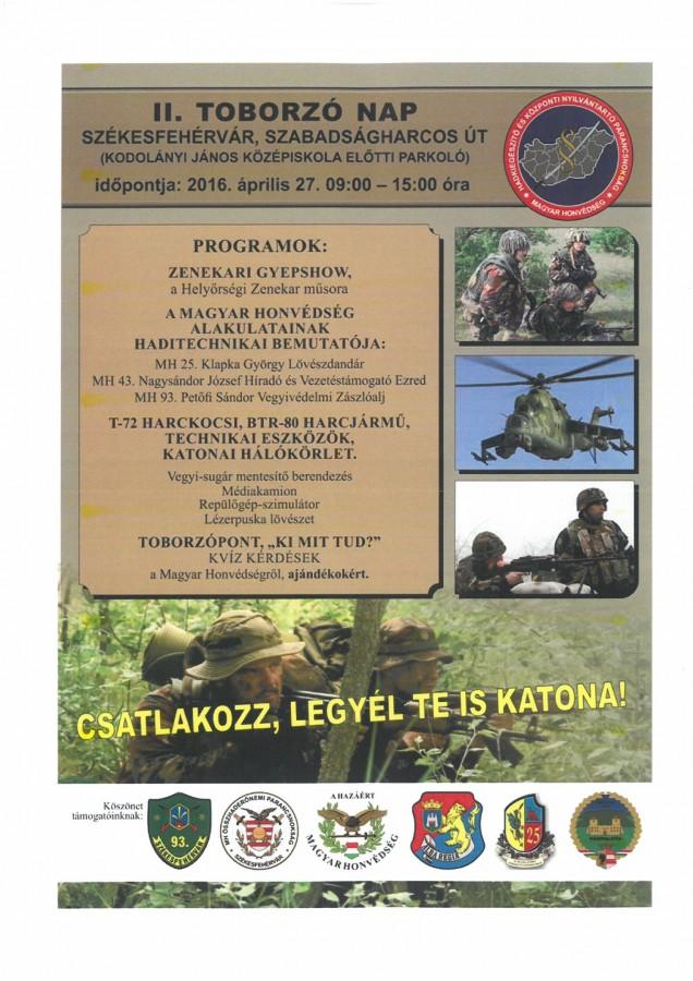 II. toborzó nap plakát
