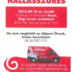 Hallásvizsgálat plakát 2018.09.18.